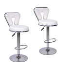 2 x  Varossa's Eden Designer Bar Stools (WHITE -Set of 2)