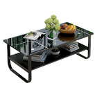 High Gloss Elegance Coffee Table with Shelf (Glossy Black)