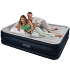 Intex Deluxe Queen Inflatable Mattress Air Bed with Built-in Pillow