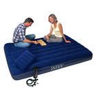Intex Classic Downy Inflatable Mattress Airbed Set with 2 Pillows and Double Quick Hand Pump