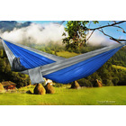 Deluxe Double Portable Fabric Hammock with Ropes BLUE