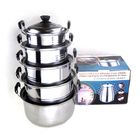 5-Piece Stainless Steel Pots Cookware Set