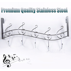 Musical Notes Large 5 Hook Over Door Hanger Hanging Rack