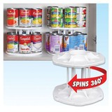 Spinning Can Carousel Bottle Shelf Cabinet Kitchen Organizer