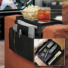 2 x Sofa Couch Chair Arm Rest Organizer Remote Control Holder 6 Pocket with Table Top