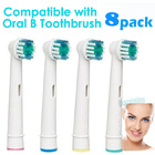 8 x Tooth Brush Heads -Oral-B Compatible (2 Packages)