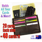 40 Cards Organiser Purse Wallet