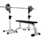 Fitplus Fitness Exercise Flat Weight Bench Combo Station