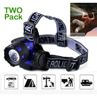 Two Pack 2 x 3W LED High Power Mini Head Lamp Blue Headlight