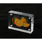 Solid Acrylic Block 3D Display Photo Frame 4 x 6