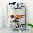3 Tier Stainless Steel Multipurpose Storage Shelf/ Kitchen Service Trolley
