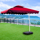 Varossa 3.5m Large Square Cantilever Outdoor Umbrella  (Maroon)