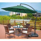 3m Heavy Duty Round Cantilever Outdoor Umbrella (Green)