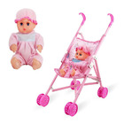 Toy Pram/ Stroller with Baby Doll