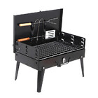 Portable BBQ Charcoal Roaster Barbecue Kit with Utensils and Case