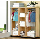 Varossa's Spacesaver Wardrobe Cupboard Shelves & Clothes Hanging Racks Furniture (Oak)