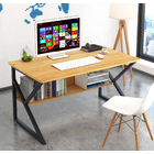 Kori Wood & Metal Computer Desk with Shelf (Oak)