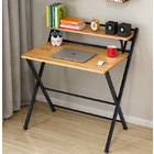 Express Folding Desk with Shelf (Oak)