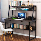 Enterprise Large Computer Desk Workstation with Shelves & Drawers (Black)