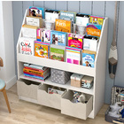 Clover Large Bookcase Storage Shelf Magazine Rack with Storage Drawers