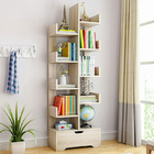 8 Level Display,Storage,Utility,Book Shelf Home Office Furniture Shelving (White Oak)