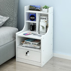 Imperial Tall Bedside Table with Drawer and Shelf (White)