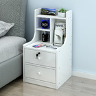 Imperial 2-Drawer Tall Bedside Table with Chest of Drawers and Shelf (White)
