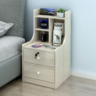 Imperial 2-Drawer Tall Bedside Table with Chest of Drawers and Shelf (White Oak)