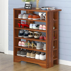 Supreme 6 Tier Wooden Shoe Rack Organizer (Walnut)