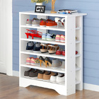 Supreme  6 Tier Wooden Shoe Rack Organizer (White)