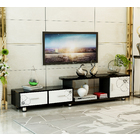 Luxe Extendable TV Cabinet (High Gloss White & Black)