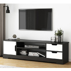 Delta TV Cabinet Entertainment Unit (Black & White)