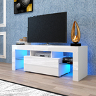 Deluxe TV Stand Entertainment Unit Cabinet with LED Lights