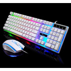 RGB Wired Gaming Keyboard and Mouse Combo Set (White Lighting)