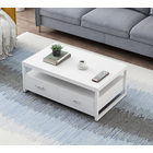 Athena Designer Coffee Table with Drawers (White)