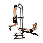 Multifunction Power Tower Dip Bar Pull Up Stand Fitness Station with Fid Bench