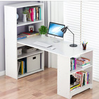 Varossa's Organizer Combination Workstation Computer Desk with 6 Storage Shelves (White)