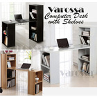 Varossa's Organizer Combination Workstation Computer Desk & 6 Storage Shelves Office Furniture