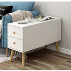 Atlantic Lift Storage Coffee Table with Drawers (White) - 80cm
