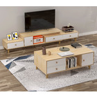2-Piece Set Caesar Wooden TV Cabinet and Coffee Table Living Room Package