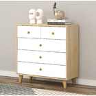 Caesar Tallboy Chest of 5 Drawers (White)