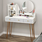 Caesar Deluxe Large Dresser Table with Mirror and Storage Drawers