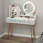 LED Luminous Caesar Deluxe Large Dresser Table with Mirror and Storage Drawers