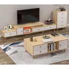 3-Piece Set Unity Wooden TV Cabinet, Coffee Table & Chest of Drawers Living Room Package