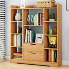 Eden Wardrobe Cupboard Bookshelf with Drawer Furniture (Oak)