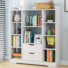 Eden Wardrobe Cupboard Bookshelf with Drawer Furniture (White)