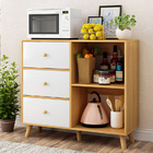 Universal Large Storage Shelf Cabinet with Drawers (Oak)