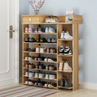 Maxim 8 Tier Shoe Rack Storage Organizer with Drawer (Natural Oak)