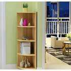 Inspire 4 Tier Stylish Wooden Corner Shelf Unit (Natural Oak)