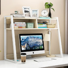 Zion Versatile Desk Hutch Storage Shelf Unit Organizer (White Oak)
